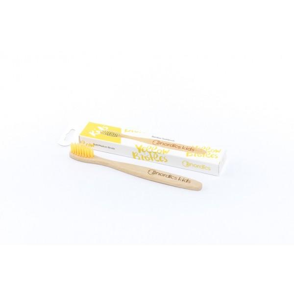 Cepillo de dientes de Bambú Niños - Amarillo