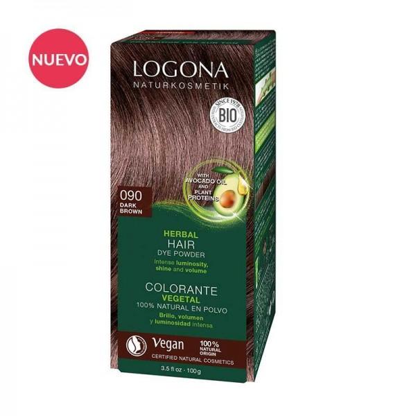 Colorante Vegetal Castaño Oscuro 090 de Logona (2 x 50gr.)