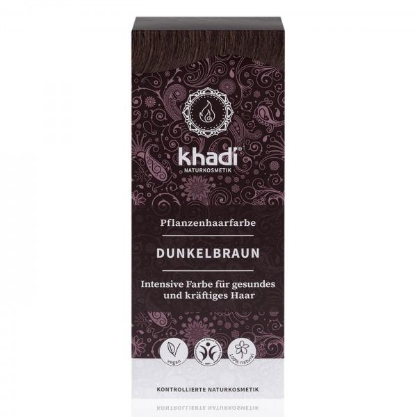 Khadi Tinte Vegetal Castaño Oscuro 100% Herbal 100gr.