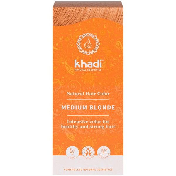 Khadi Tinte Vegetal Rubio Medio 100% Herbal 100gr.