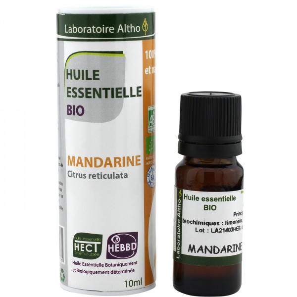 Oferta 50% Aceite esencial de mandarina BIO 10ml Laboratorio Altho
