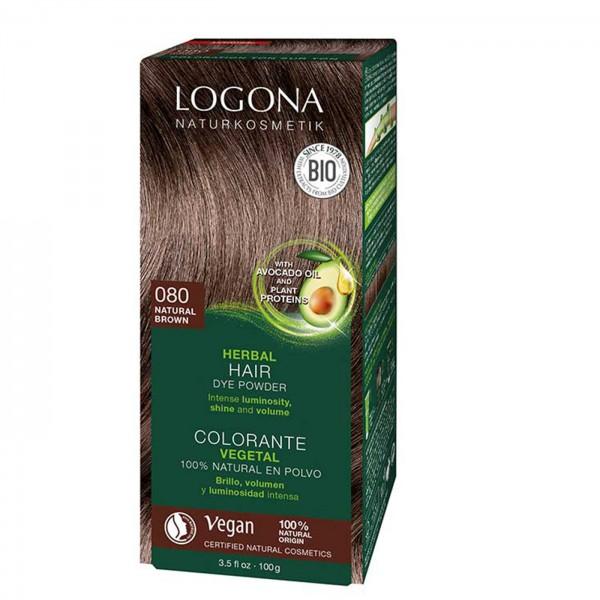 Logona Colorante Capilar en Polvo Castaño Dorado 080