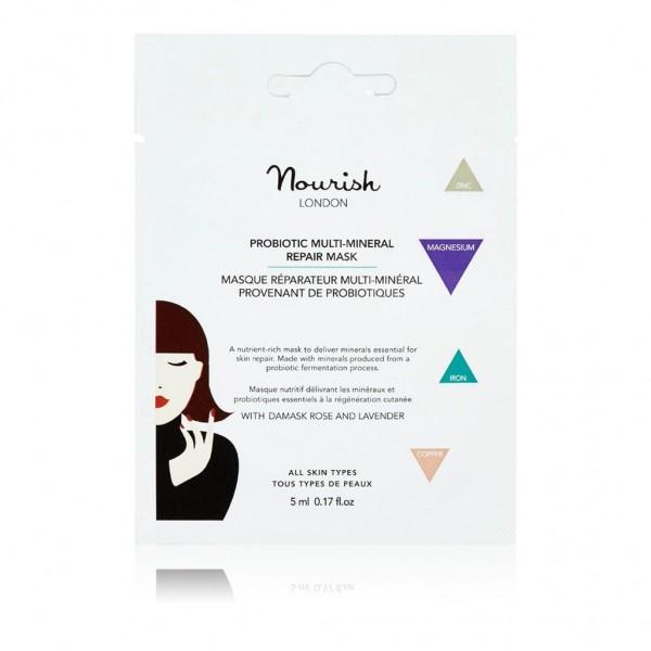 Mascarilla Probiótica  Multi Mineral de Nourish London 5ml.
