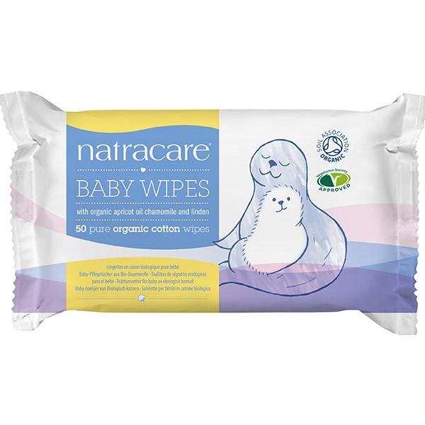 Natracare Toallitas limpiadoras algodón ecológico para Bebé 50 Unidades