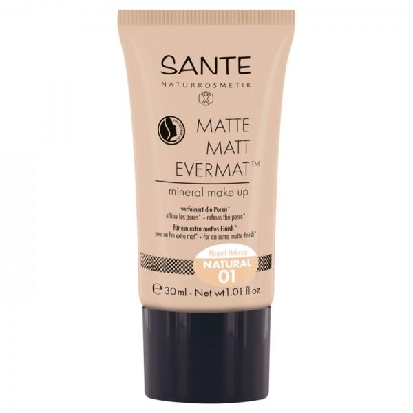 Maquillaje fluido MATE hidratante 24h de Santé 30ml 3 TONOS