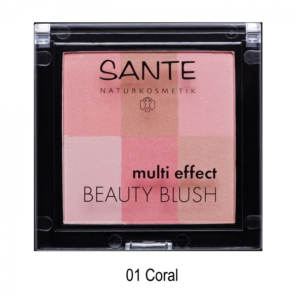 Colorete multi-effect paleta de 6 tonos de Sante, 8gr 2 TONOS