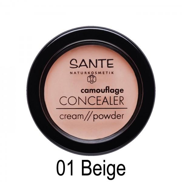 Corrector polvo/crema camuflaje Sante 3,4gr 2 TONOS