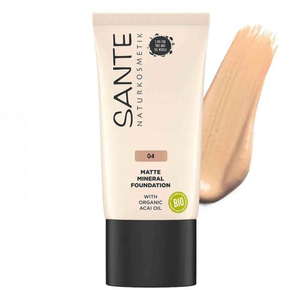 Maquillaje Fluido Mineral Mate 04 Cool Fawn Sante 30ml