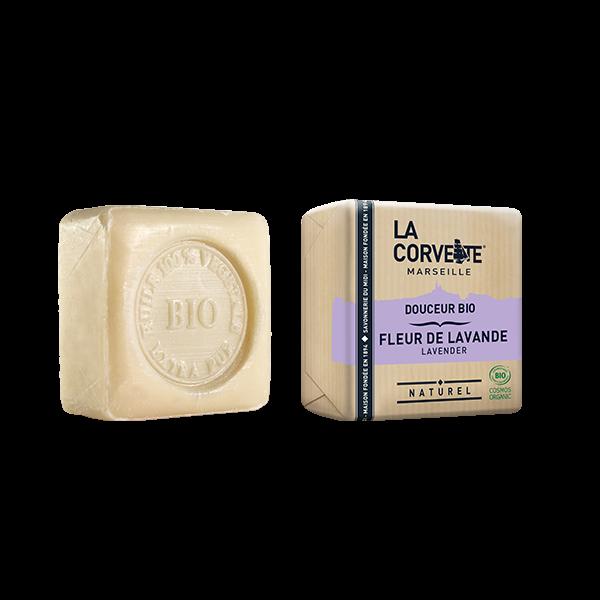 Jabón de Marsella y leche de burra - Lavanda de La Corvette 100g