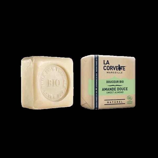 Jabón de Marsella y leche de burra - Almendras de La Corvette 100g