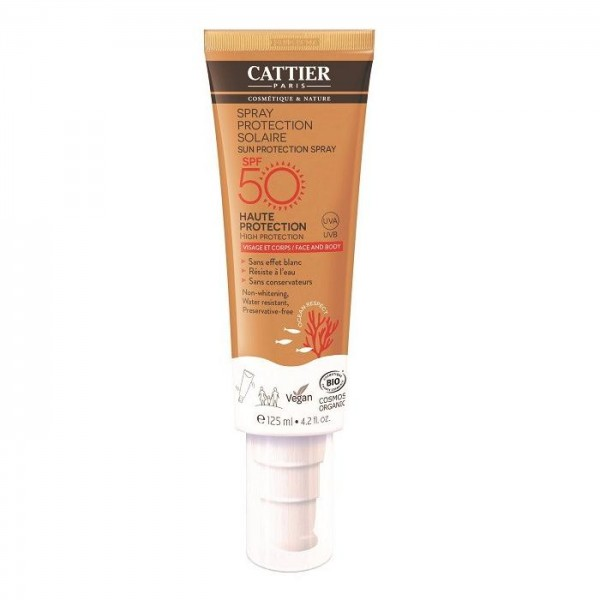 Spray Solar SPF50 Cara&Cuerpo de Cattier 125ml