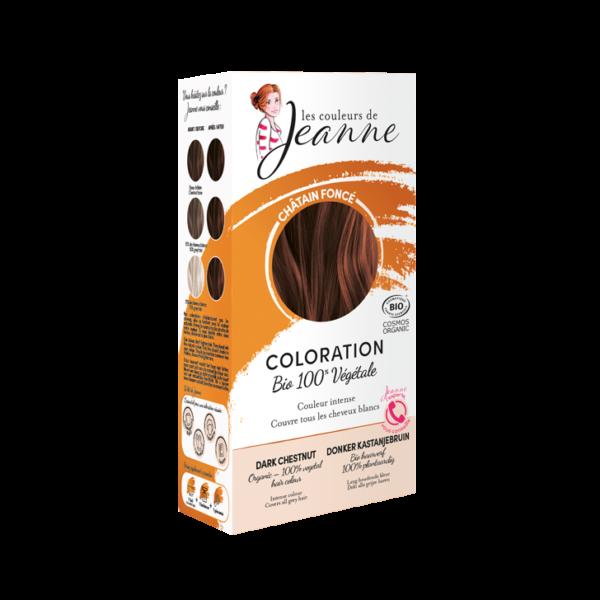 Tinte Vegetal Castaño Oscuro Couleurs de Jeanne 2 x 50gr.