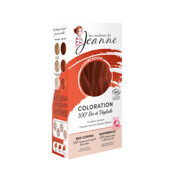 Tinte Vegetal Rojo Cobre de Couleurs de Jeanne 2 x 50gr.