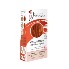 Tinte Vegetal Cobre Intenso de Couleurs de Jeanne 2 x 50gr.