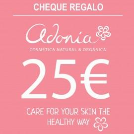 Cheque Regalo Adonia 25,00.€