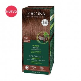 Colorante Vegetal Chocolate Chocolate 091  de Logona (2 x 50gr.)