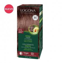 Colorante Vegetal  Marrón (Chestnut Brown) 070 de Logona (2 x 50gr.)