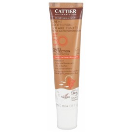 Crema Hidratante SPF50 con Color de Cattier 50ml