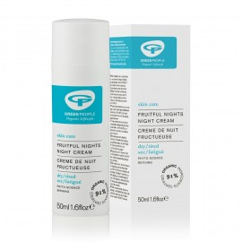 Crema de noche alisante afrutada de Green People 50ml