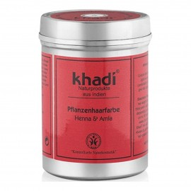 Tinte Vegetal Henna & Amla Roja en Lata 150gr. Khadi