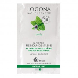 Mascarilla purificante menta & salicílico monodosis de Logona 7,5ml