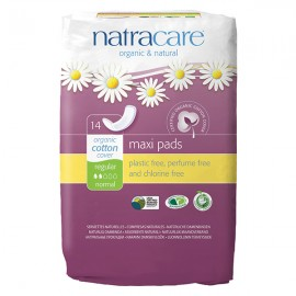 Natracare Compresas Regular sin Alas (Regular Pads) 14 Unidades