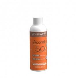 Recarga Spray solar SPF50 niños de Acorelle 150ml