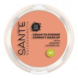 Maquillaje Maquillaje Compacto Polvo-Crema 02 Warm Meadow Sante 9gr