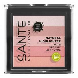 iluminador natural 02 rose polvo paleta de 5 tonos de Santé 7gr
