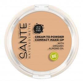 Maquillaje Compacto Polvo-Crema 01 Cool Ivory Sante 9gr