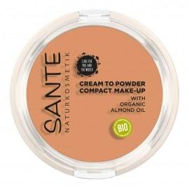 Maquillaje Compacto Polvo-Crema 03 Cool Beige Sante 9gr