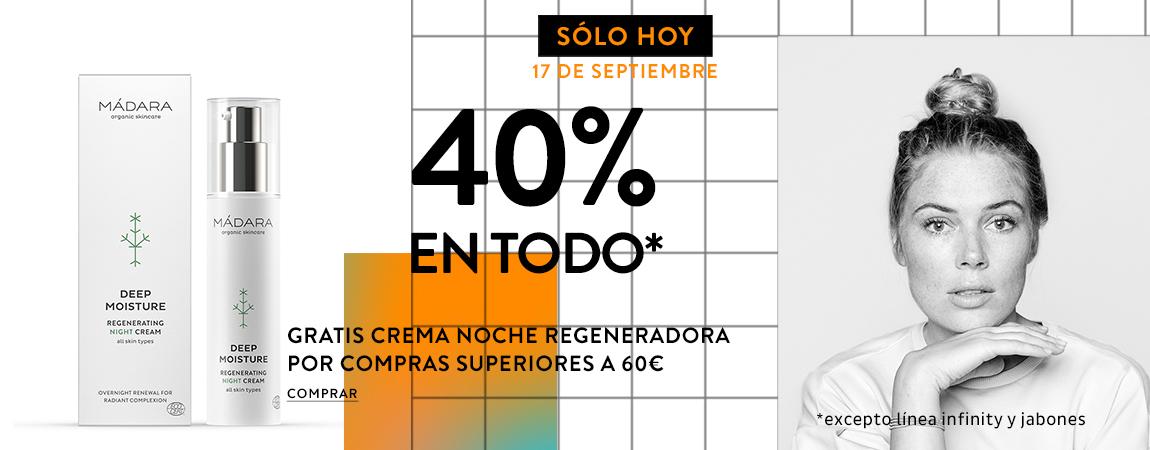 GRATIS CREMA NOCHE REGENERADORA  POR COMPRAS SUPERIORES A 60€*